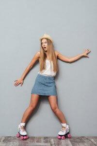 fashion girl in skates