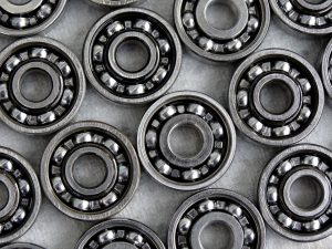 Close-up of opened skate ball bearings