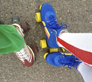 colorful roller skates